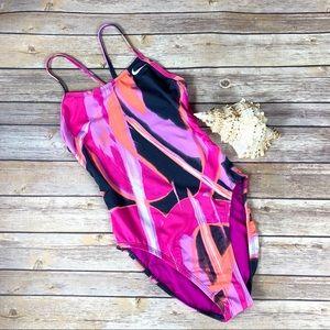 Nike Multicolor Open Back One Piece Swimsuit Sz. 6